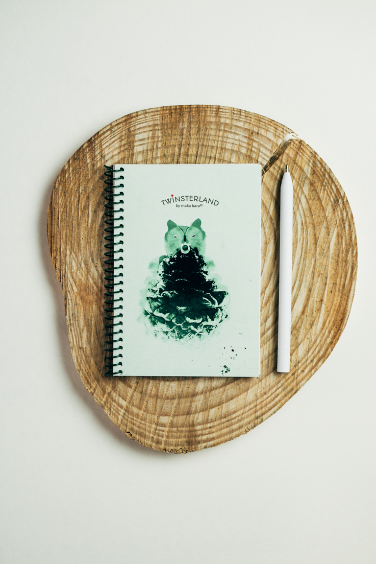 postales,planificadores,block de notas,notebooks,notes,libretas,covers,bonitas,papel eco,tintachina,ink,ecopaper,ciervo,oso,pájaro,bird,deer,bear